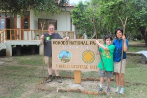 Island Hopping Flores, Indonesia - Day 1 - Rinca Island, ranger stick - Two Worlds Treasures