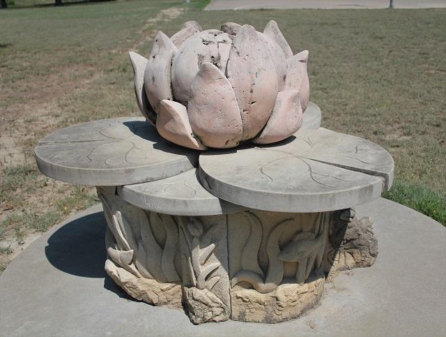 Hanna Springs Sculpture Garden - Lampasas TX - Lampasas Lily - Two Worlds Treasures