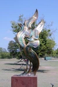 Hanna Springs Sculpture Garden - Lampasas TX - Mystic Flight - Two Worlds Treasures