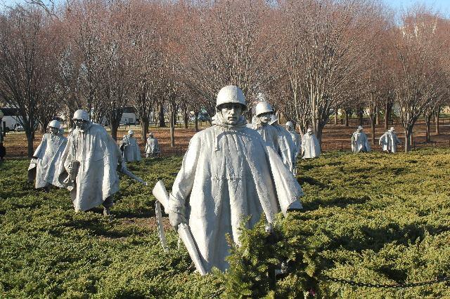 Visiting Washington, D.C. during Christmas Break-Korean War Memorial