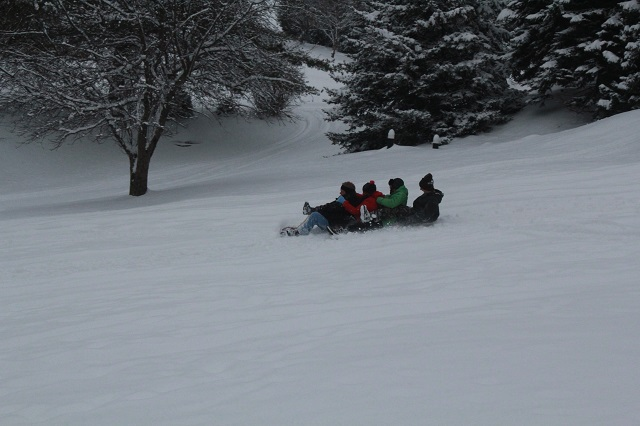 Pittsburgh with Kids after Christmas - Sledding - Two Worlds Treasures