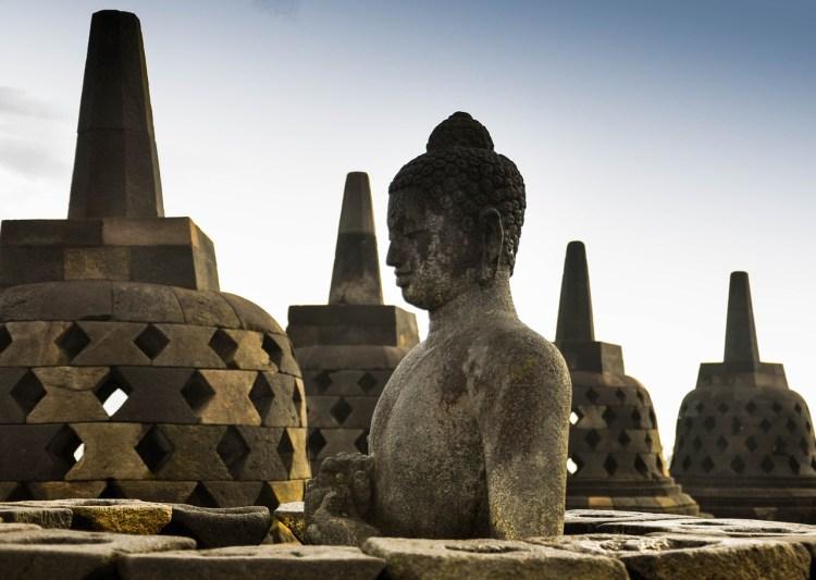 Borobudur temple - buddha's head
