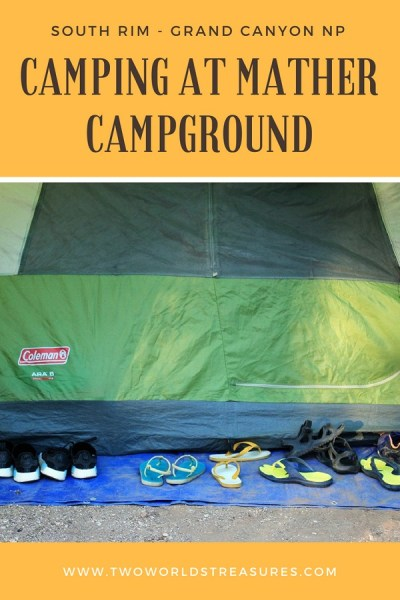 Camping at Mather Campground on the South Rim of Grand