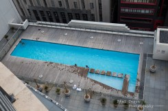 Roof top Pool. Bev and the boys took a swim in arctic cold waters, whilst I went for a bath!