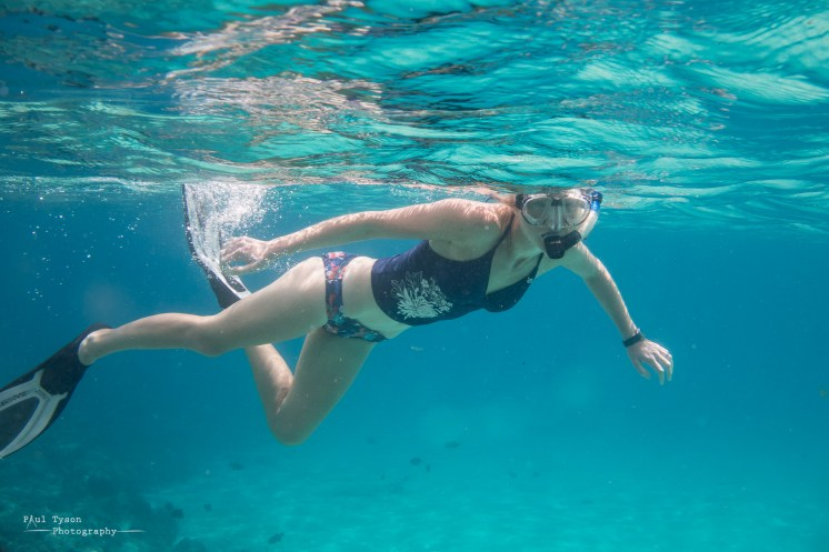 My stunning wife snorkelling, seriously Im a lucky man.