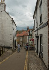 Narrow streets of Robin Hood bay in North East Yorkshire.