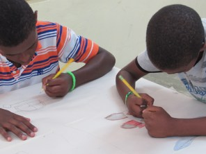 summer camp- table coloring competition