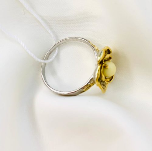 Серебрянное кольцо,купить Кольцо серебро,«Жгучая роза»,кольцо позолота,TwoZi