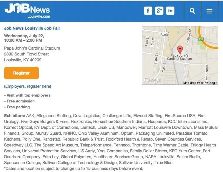 Job News Louisville Job Fair