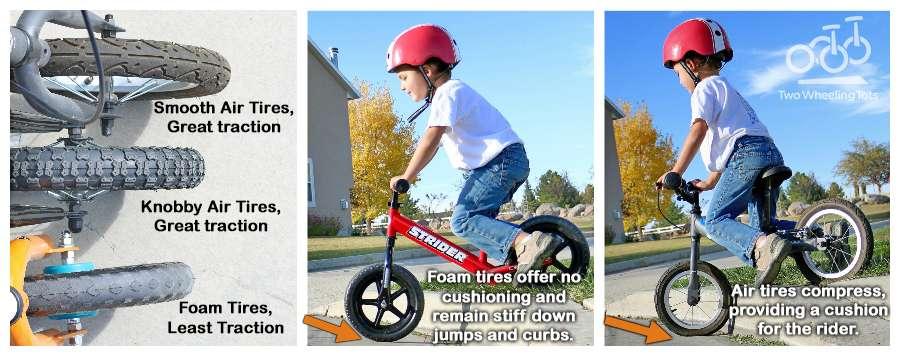 充氣胎 vs. EVA 發泡胎