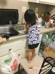 幫媽媽洗碗
