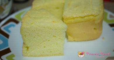 [氣炸鍋食譜] 不用大烤箱, 氣炸鍋也可以完成柔軟不回縮的清水蛋糕 (Clear Water Cake)~!!
