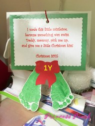 Christmas Footprint Card