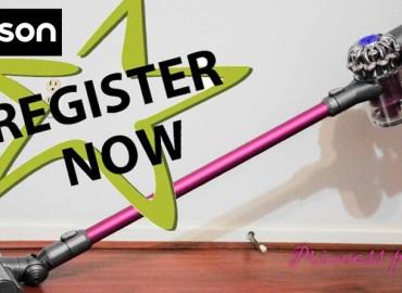 Dyson on-line registry