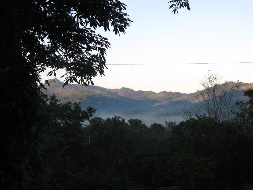 Fog in Nicaraguan mountains