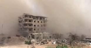 قوات الأسدتحاول اقتحام دارياوتمطرها ب28برميل