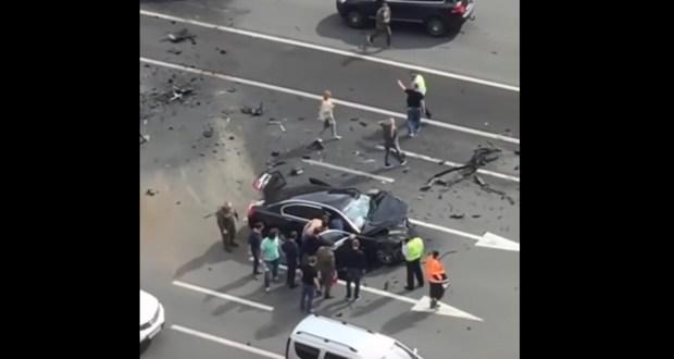حادث مروري يكاد يقتل بوتين
