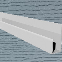 6mt Embossed Cladding U-Channel Light Grey