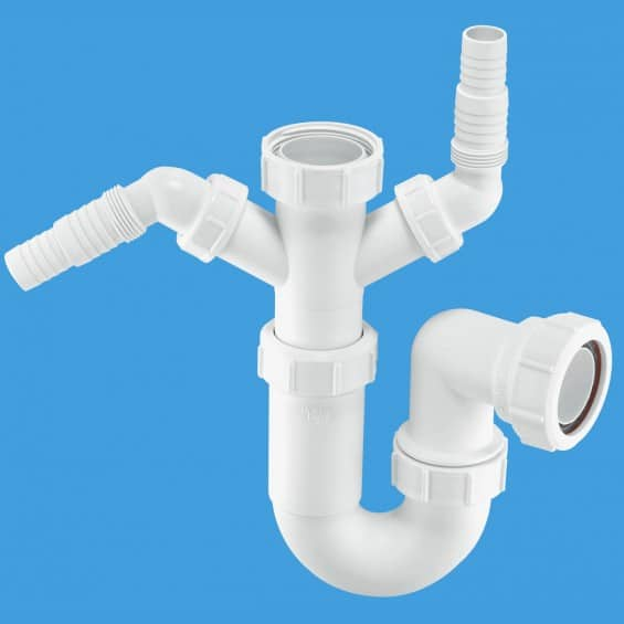 McAlpine WM11 Sink Trap with Twin 135° Nozzles