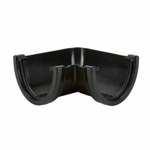 170mm 90' Gutter Bend Deepstyle Black