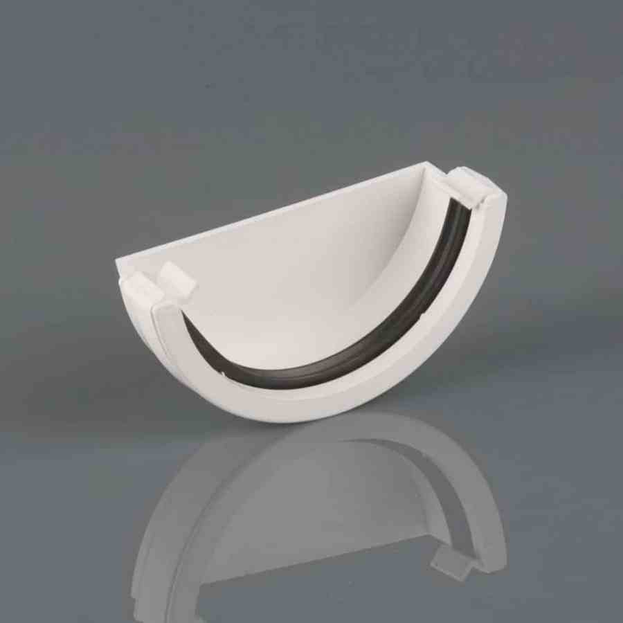 Roundstyle 112mm External Stopend Artic White