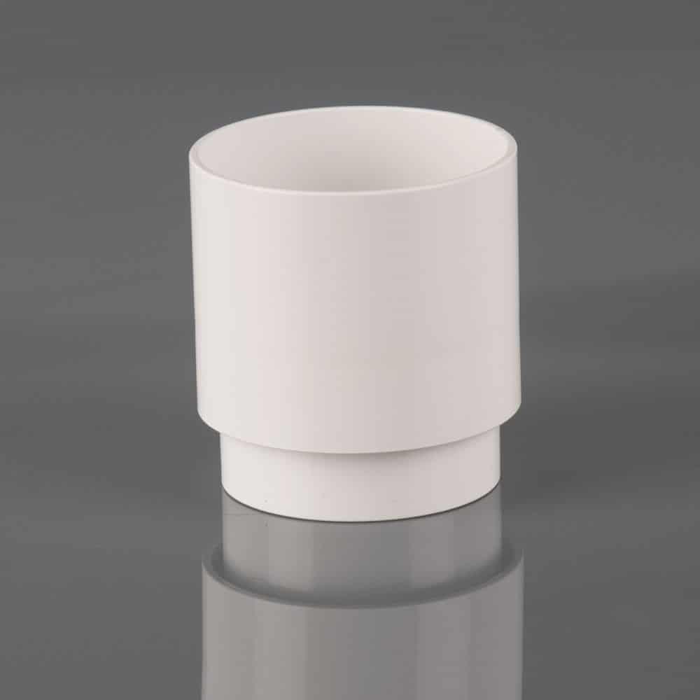 68mm Round Downpipe Socket White