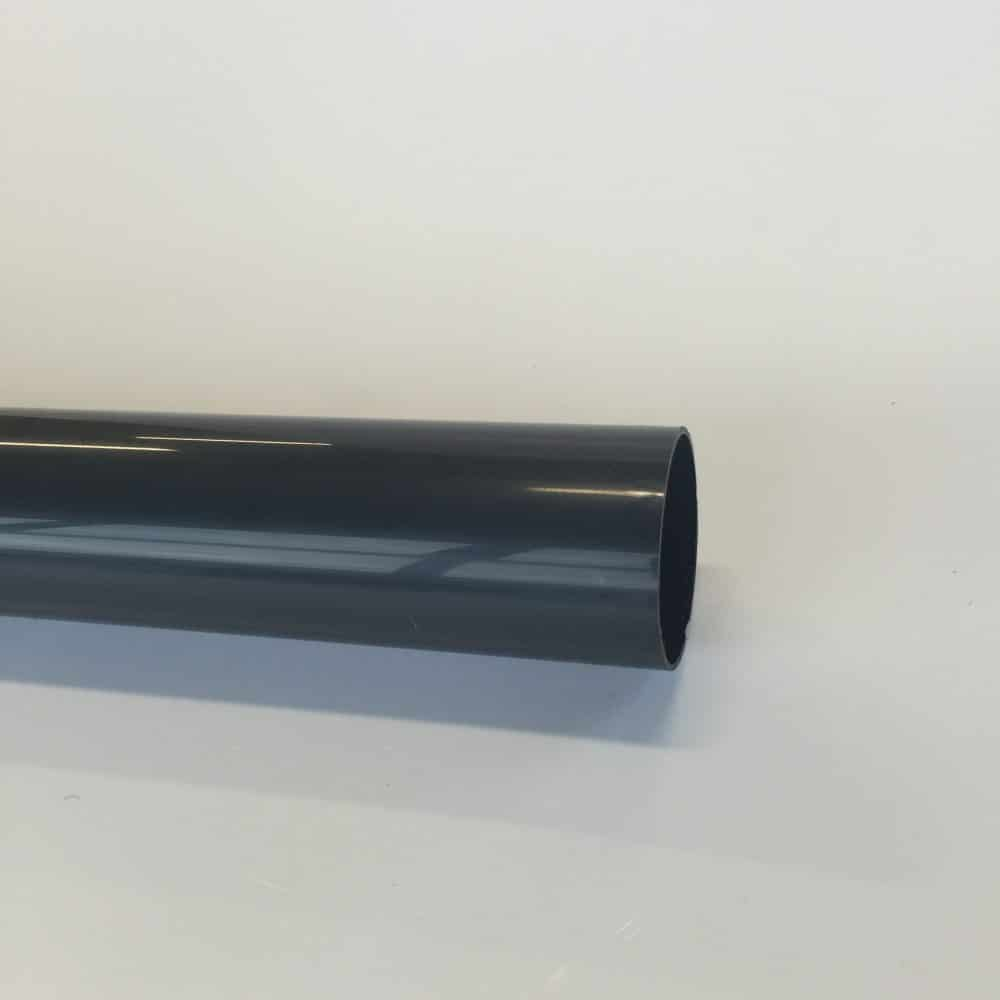 68mm x Plain End Round Downpipe Anthracite Grey