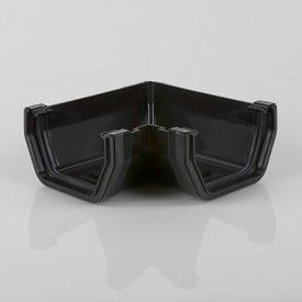 Squarestyle 114mm 90' Gutter Angle Black