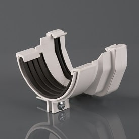 Squarestyle 114mm to Roundstyle 112mm Gutter Union White