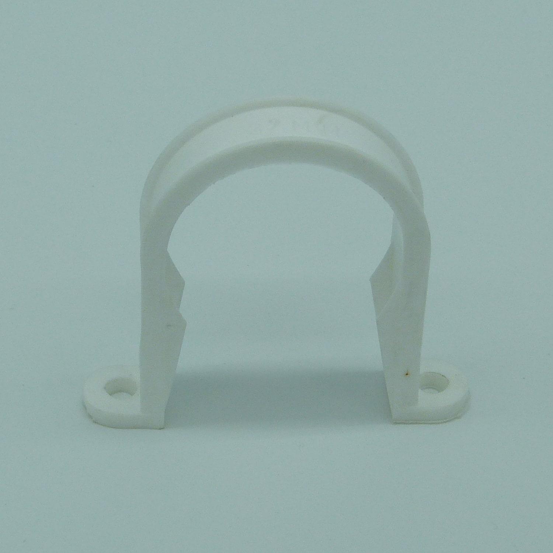 32mm pipe clip white