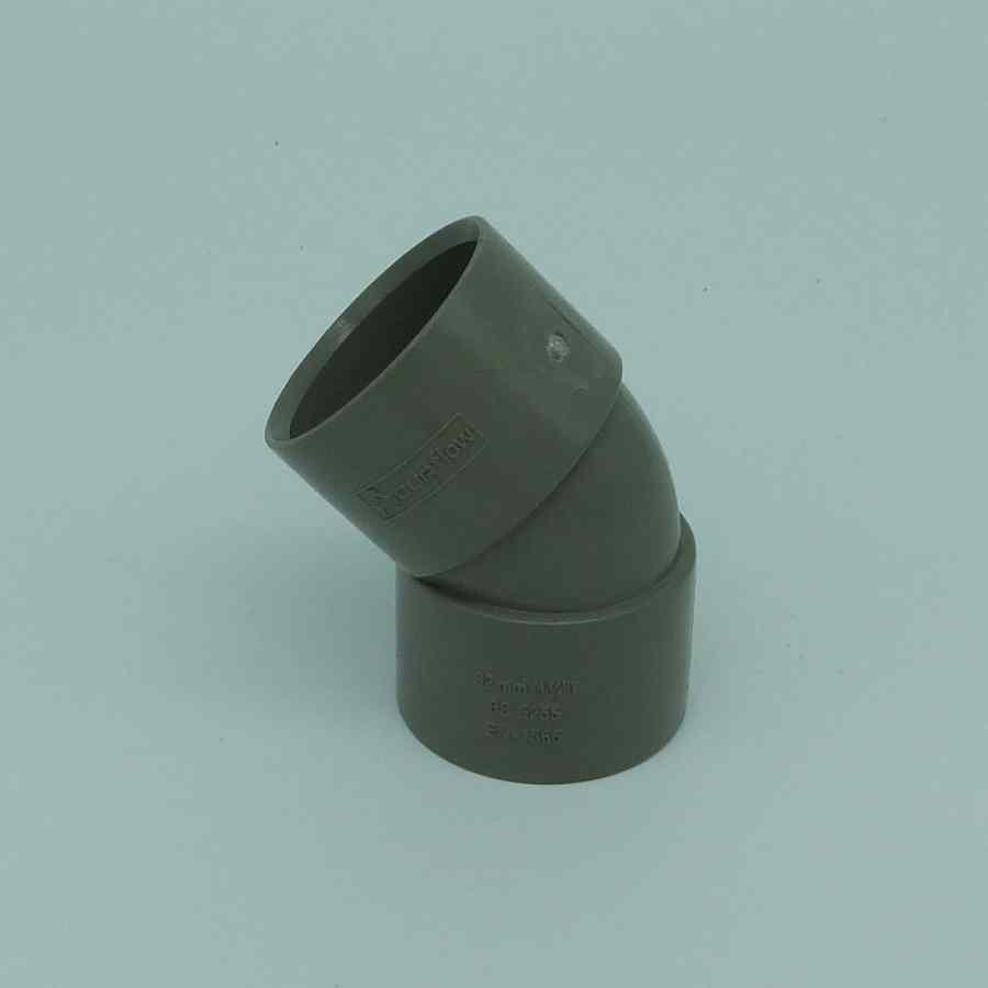 32mm solvent weld 45d bend grey