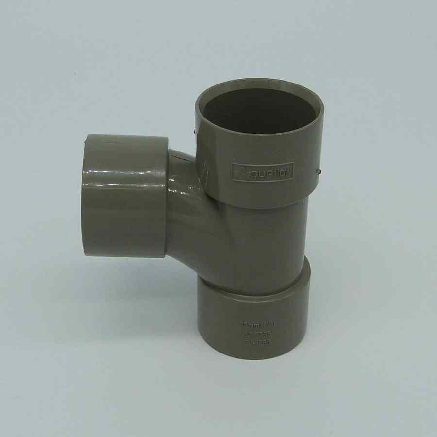 32mm solvent weld 90d swept tee grey