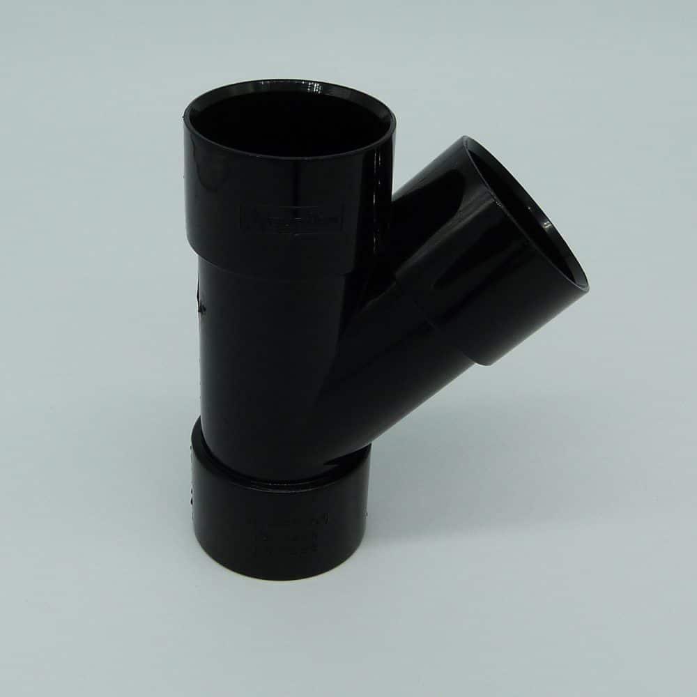 40mm solvent weld 45d y branch black