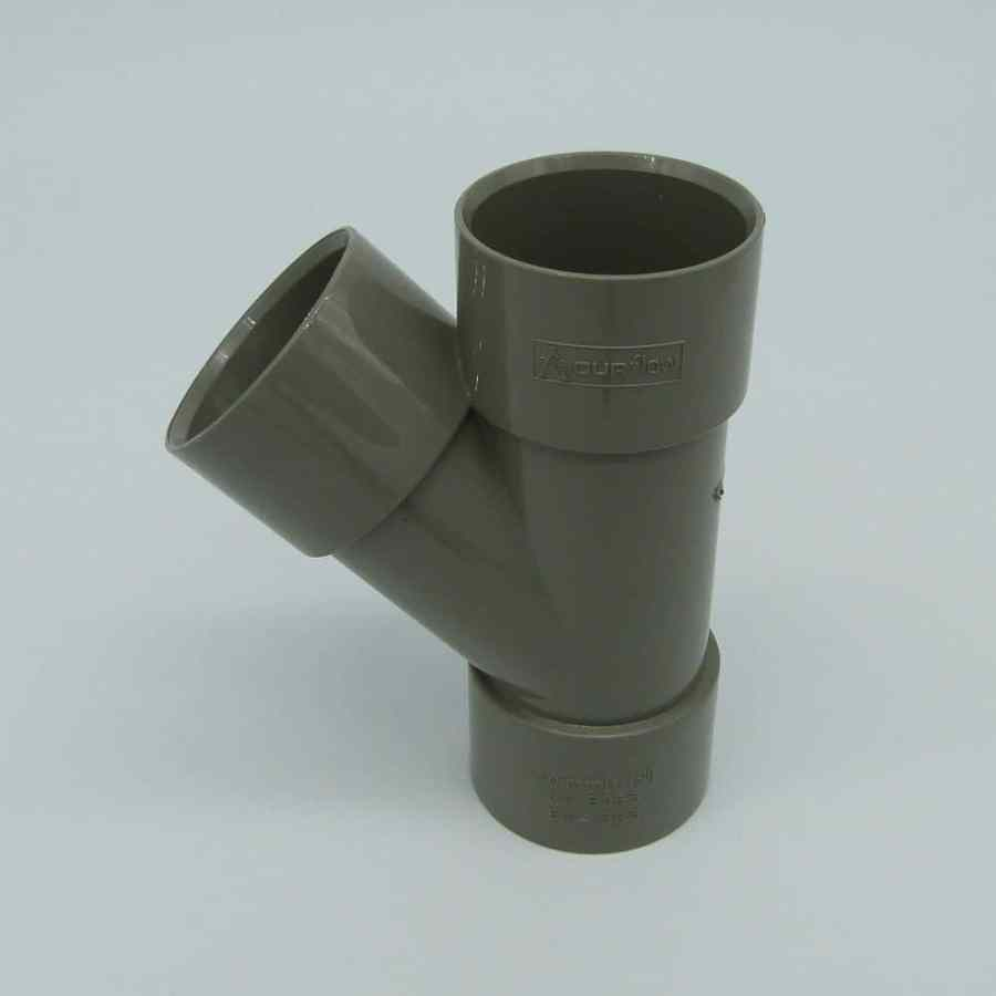 "40mm Solvent Weld 135' ""Y"" Branch Grey"