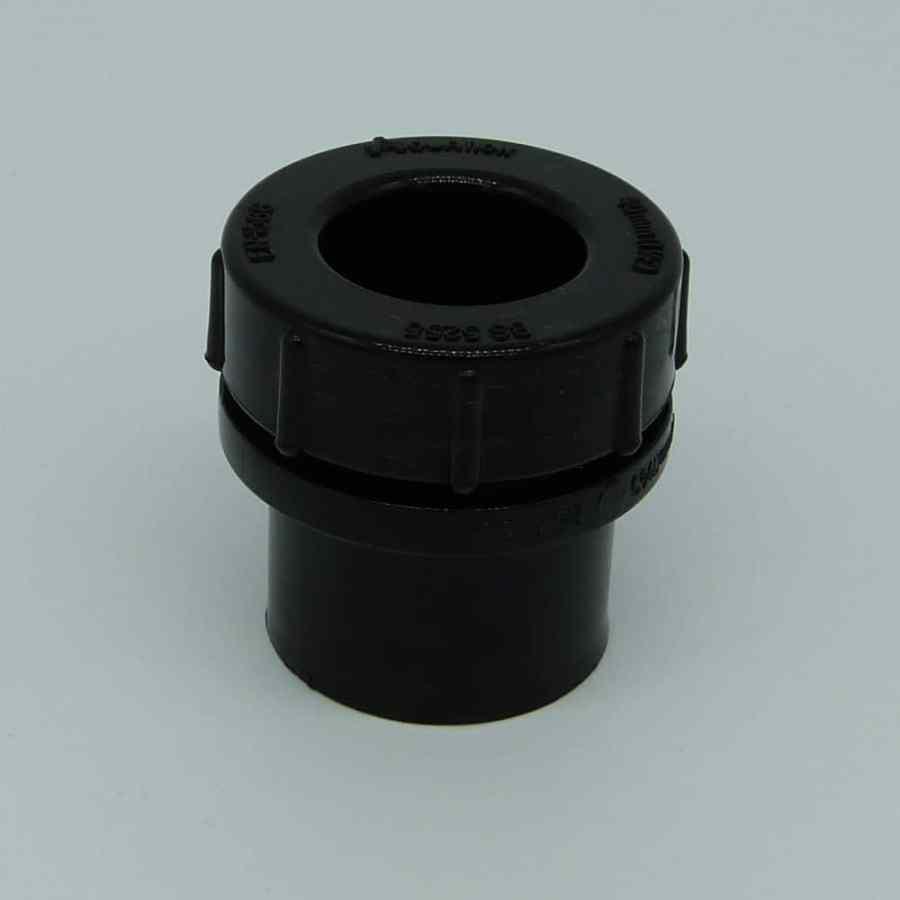 40mm solvent weld screw access cap black