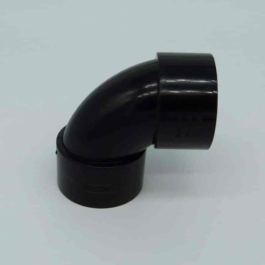 50mm Solvent Weld 92.5' Swept Bend Black