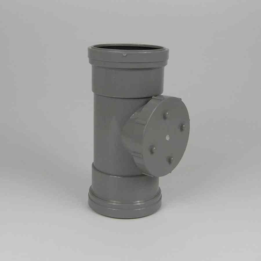 110mm PushFit Soil D/S Access Pipe Grey