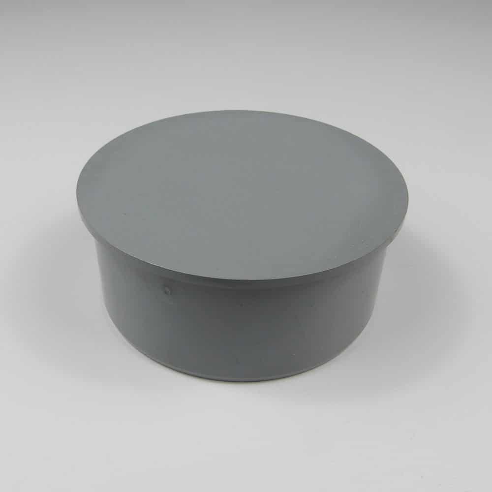 110mm PushFit Soil Socket Plug Grey
