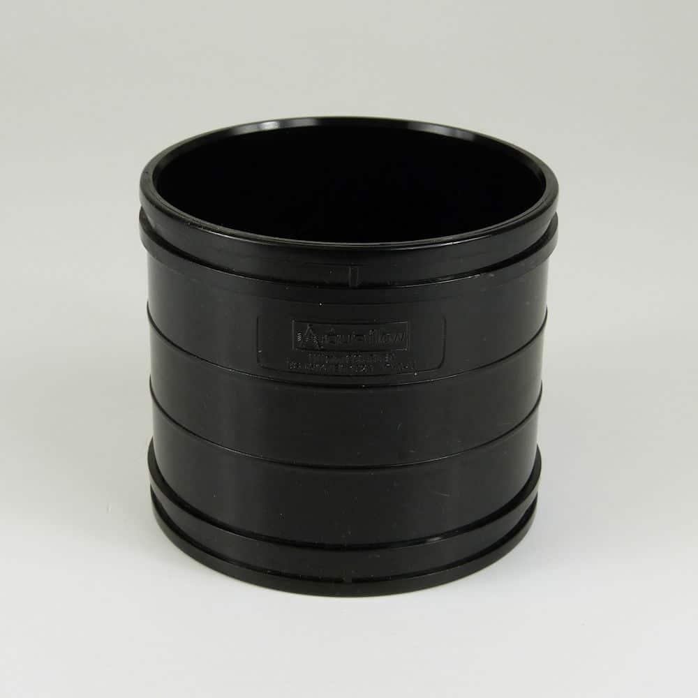 110mm Solvent Soil Double Coupler Black