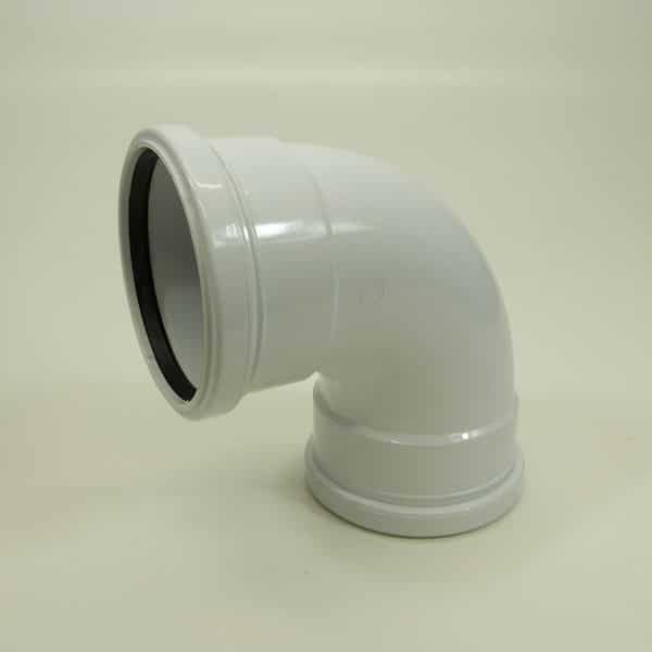 110mm Push Fit Soil 92' degree Double Socket Bend White