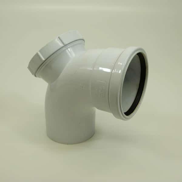 110mm Push Fit Soil 92' degree Single Socket Access Bend White