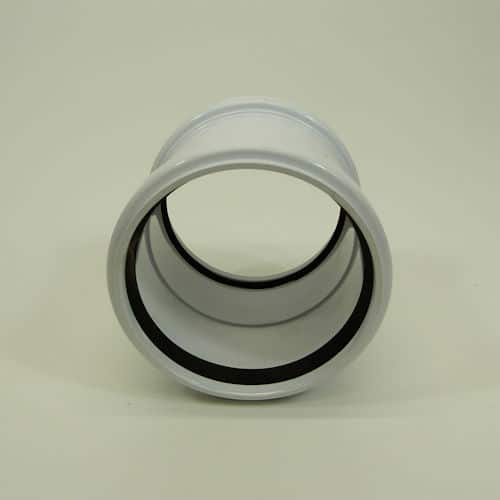 110mm Pushfit Soil Double Socked Coupler White