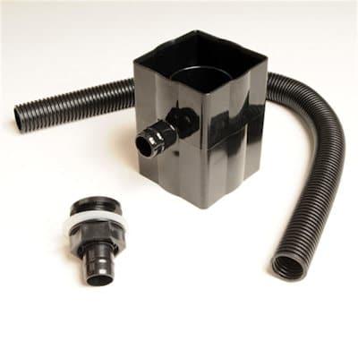 Downpipe Rainwater Diverter Kit Black Brett Martin BR222B, Fits 68mm Round & 65mm Square Downpipes,