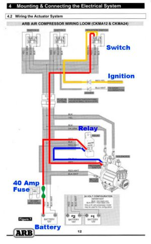 ARB CKMA12 Simple Wiring | Taa World