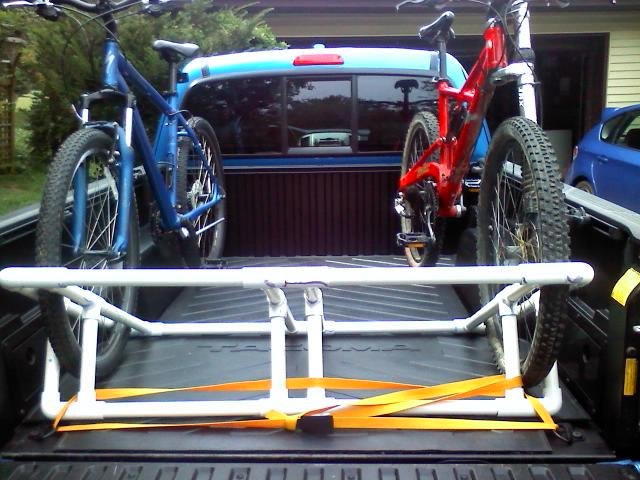 diy truck bed bike rack tacoma world