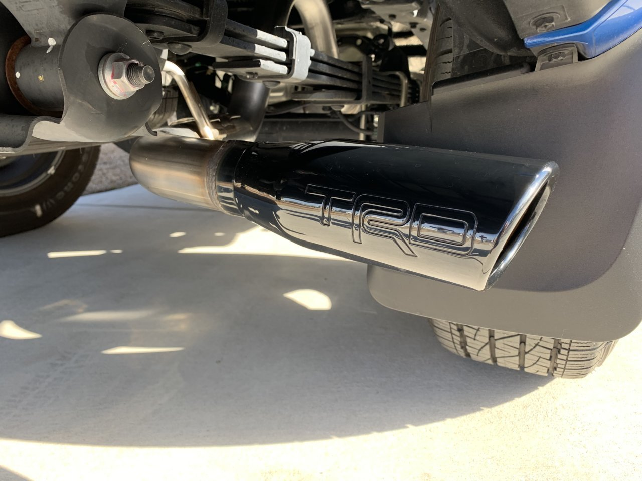 black trd exhaust part tacoma world