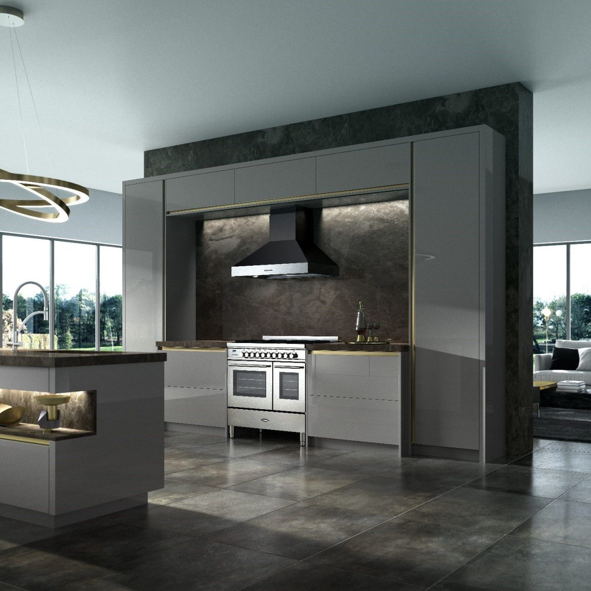 dark kitchen trends
