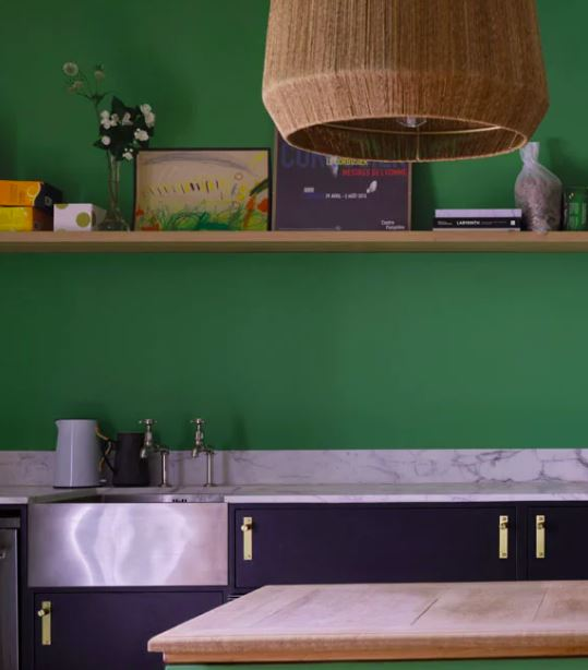 Emerald Green by Farrow&Ball is from the new Colour by Nature palette, created in collaboration with the Natural History Museum to bring the true colours of nature into your home.