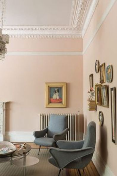 Setting Plaster – Paint Colour of The WeekSetting Plaster by Farrow&Ball is a dusty pink is named after the blushing walls we often admire in newly plastered houses. It is definitely a pink in historic terms, but has a certain softness to it due to the inclusion of yellow pigment.