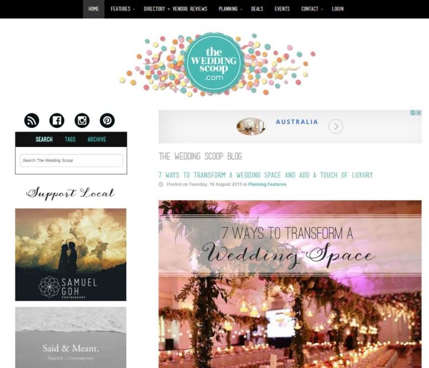 the wedding scoop screenshot